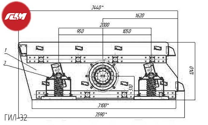 Грохот инерционный гил 32 в Ессентуки щековая дробилка смд-109a конструктив